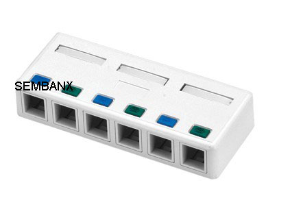 86型网络模块如何接线